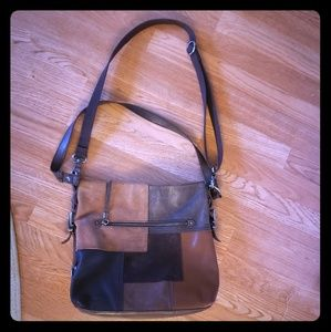 The Sak Suede & Leather Patchwork Bag